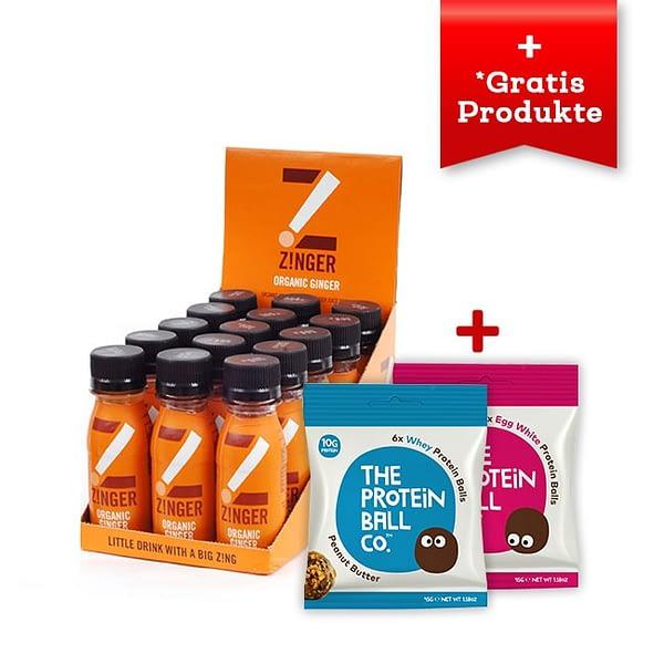 Zinger Aktion: Organic Ginger + Whey Protein Balls