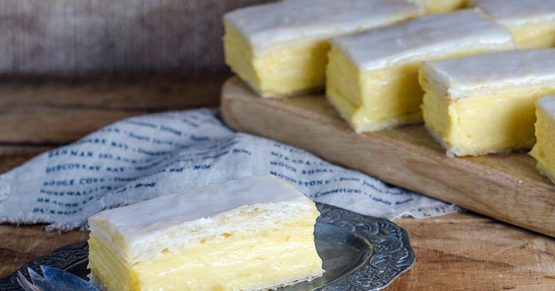 Vanille Schnitten mit Vanille - Paste