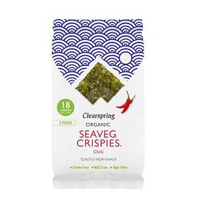 Organic Seaveg Crispies Multipack Chilli 12g