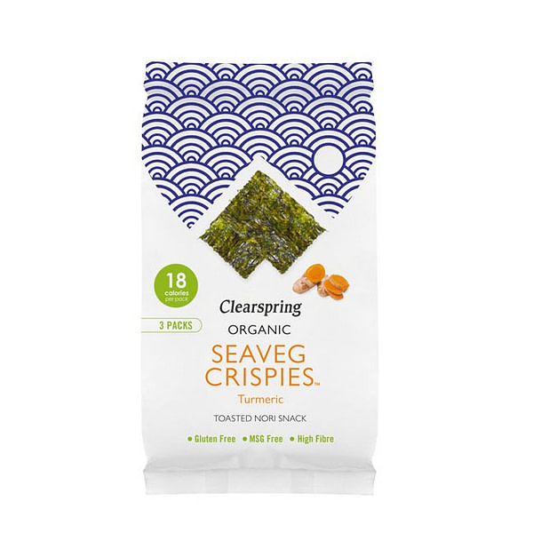Organic Seaveg Crispies Multipack Turmeric 12g