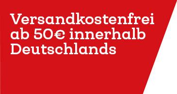 Versandkostenfrei ab 50€ in Deutschland