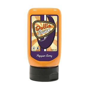Dollie Sauce Pepper Curry, leicht süße Currysauce auf Mayonnaisen-Basis aus den Niederlanden.