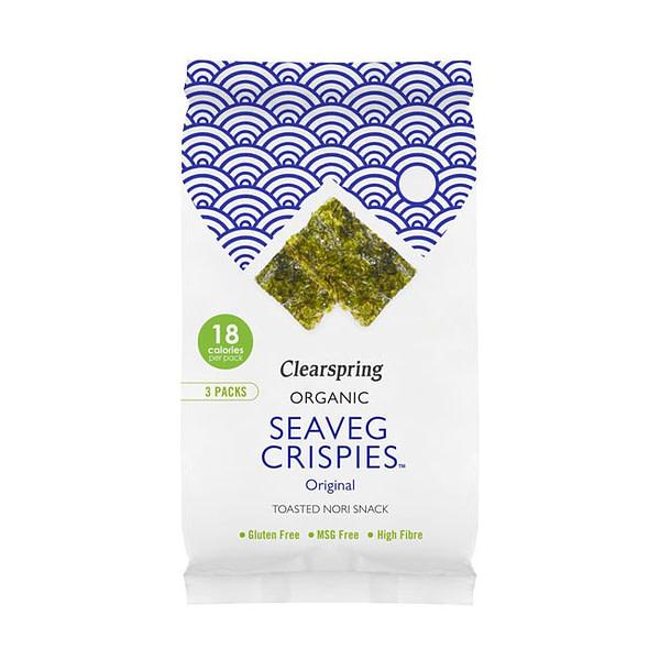 Organic Seaveg Crispies Multipack Original 12g