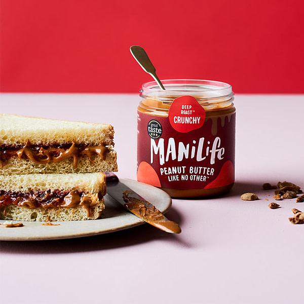 Sandwich mit Manilife Peanut Butter