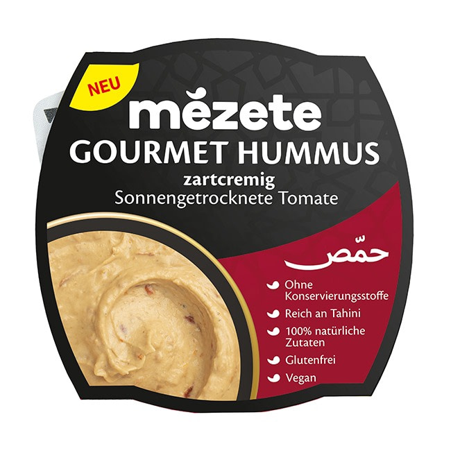 Kichererbsenpüree mit Sesampaste und sonnengetrockneten Tomaten von Mezete