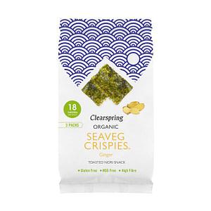 Organic Seaveg Crispies Multipack Ginger 12g