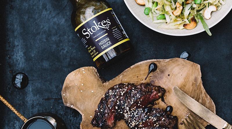 Stokes Skirt Steak mit Hoisin Sauce, Sesam und Asia-Slaw