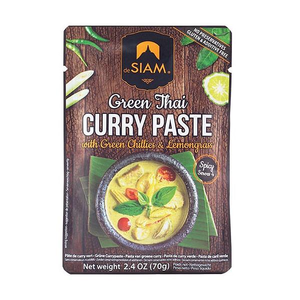 deSiam Grüne Thai Curry Paste mit grünen Chilis und Zitronengras